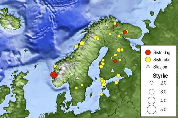 Jordskjelv på Øyo!